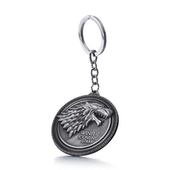 Game of Thrones House Stark Sigil Crest Metal Keychain