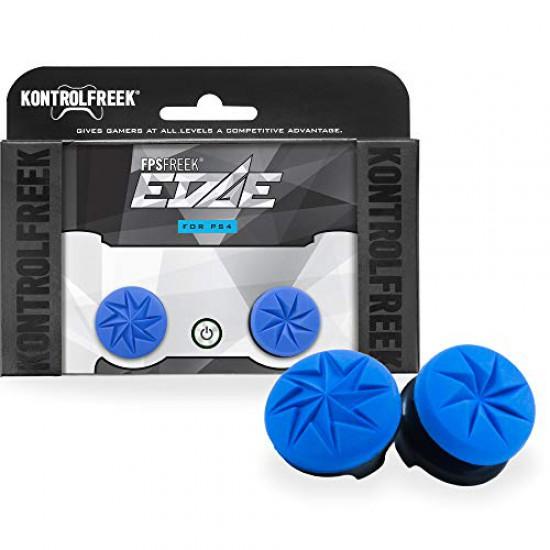 KontrolFreek FPS Freek Edge for PlayStation 4 (PS4) Controller | Performance Thumbsticks Blue