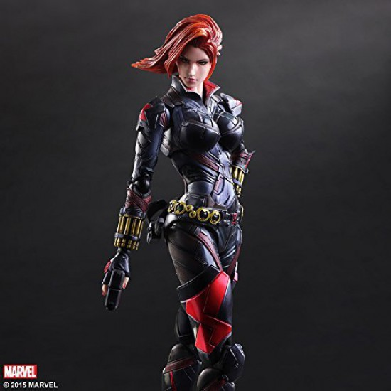 MARVEL UNIVERSE VARIANT PLAY ARTS Kai Black Widow PVC painted action figure