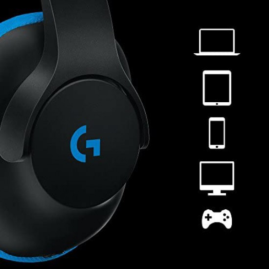 Logitech G233 Wired Gaming Headset for PC, Xbox One, PS4, Switch, Mobile (Prodigy Family)