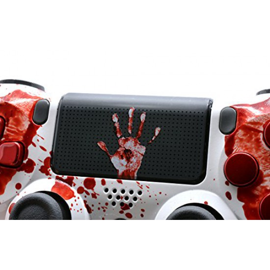 Bloody Hands Ps4 Rapid Fire Custom Modded Controller 40 Mods for All Major Shooter Games, Auto Aim, Quick Scope, Auto Run, Sniper Breath, Jump Shot, Active Reload & More with CUSTOM TOUCHPAD