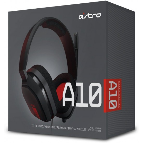 ASTRO Gaming A10 Gaming Headset - Black/Red - PC - ps4 - xbox one -mac - mobile