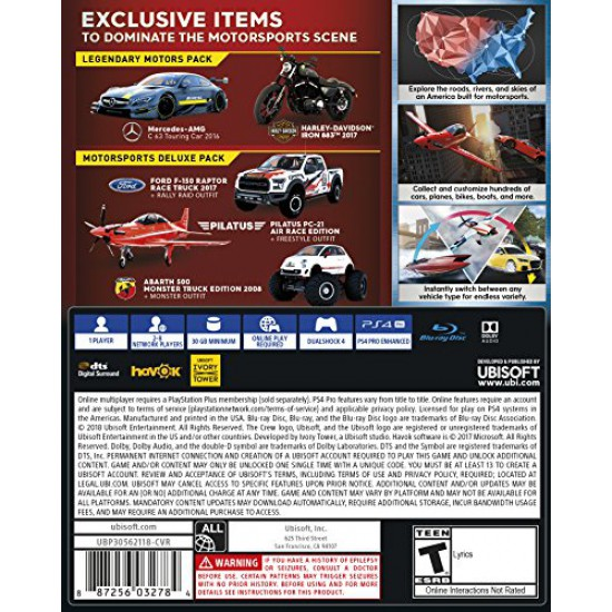 The Crew 2 Deluxe Edition - PlayStation 4 (Arabic&English)