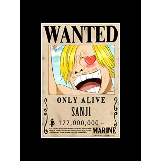 Stick It On Your Wall One Piece - Wanted - Sanji Mini Poster - 40.5x30.5cm