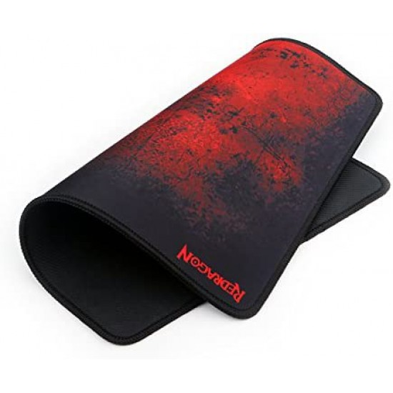 Redragon P016 Gaming Mouse Pad, Stitched Edges, Waterproof, Black Red Dragon Design, Pixel-Perfect Accuracy Optimized for All MMO Computer Mouse Sensitivity and Sensors