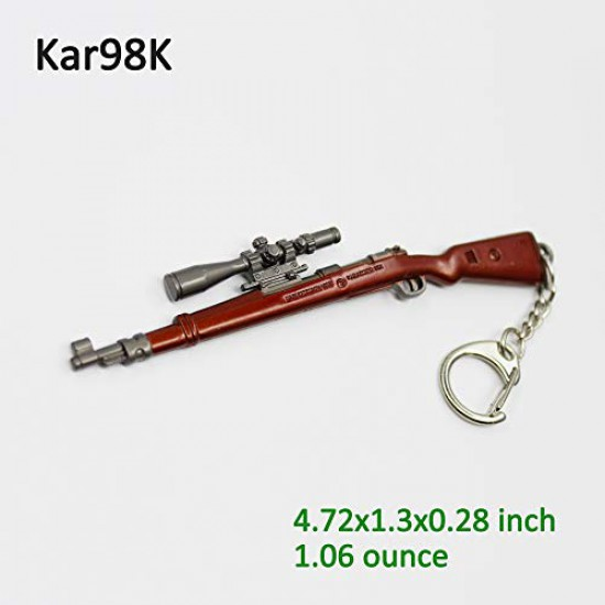 CW-Mart PUBG Gifts Key Chain Ring Model M416, Souvenir Key Ring for PLAYERUNKNOWN?S BATTLEGROUNDS Fans Children