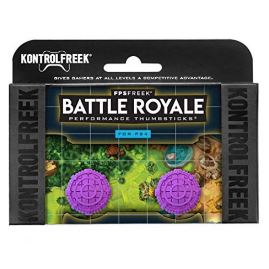 KontrolFreek FPS Freek Fortnite Battle Royale Thumbsticks for PlayStation 4 Controller (PS4) Purple Color Controller Buttons (Limited Edition)