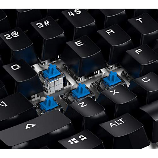 GameSir Gaming Keyboard Wireless Mechanical Keyboard, LED Backlit 104 Keys Ergonomic Wrist Rest Keyboard for Windows PC Gamer Desktop, Computer