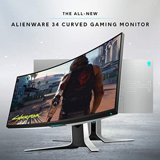 ALIENWARE AW3420DW CURVED 34 INCH WQHD 3440 X 1440 120HZ, 2MS , LUNAR LIGHT GAMING MONITER