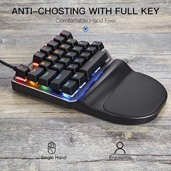 MotoSpeed K27 Wired Mechanical RGB Keypad - Blue Switches