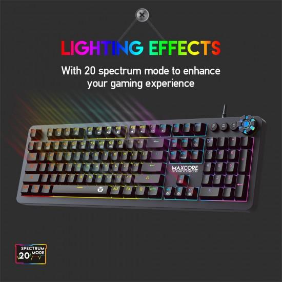 FANTECH MK852 Mechanical Keyboard 104 Keys English And Russian Keyboard LED multimedia And Marco Game Keyboard For LOL FPS DOTA