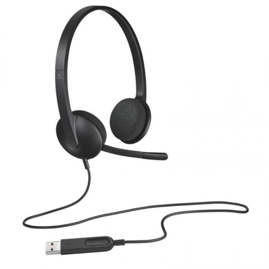 H340 USB Computer Headphones with USB Jack Designed 1.8m Length Support Office using For Windows Mac