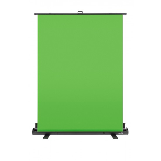 Elgato Green Screen ? Collapsible chroma key panel for background removal with auto-locking frame, wrinkle-resistant chroma-green fabric, aluminum hard case, ultra-quick setup and breakdown
