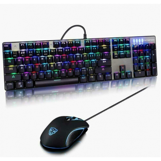 Motospeed CK888 Wired Mouse and Keyboard Combo - Red Switches