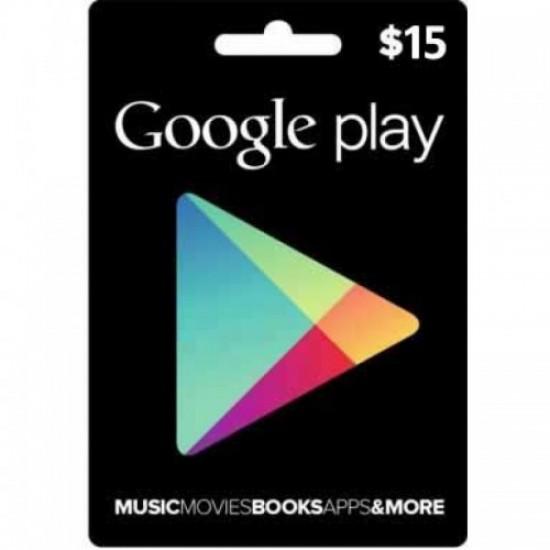 15$ Google Play - USA