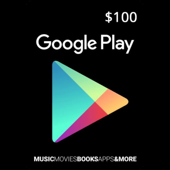 100$ Google Play - USA