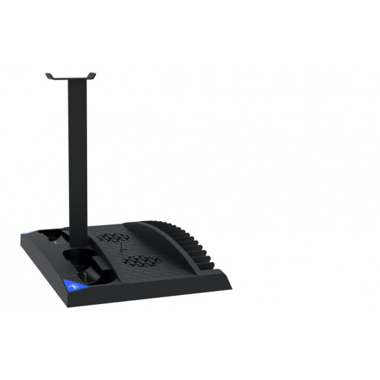 iPega 6 in 1 Game Vertical Stand Multifunctional Cooling Fan Charging Base For PS5