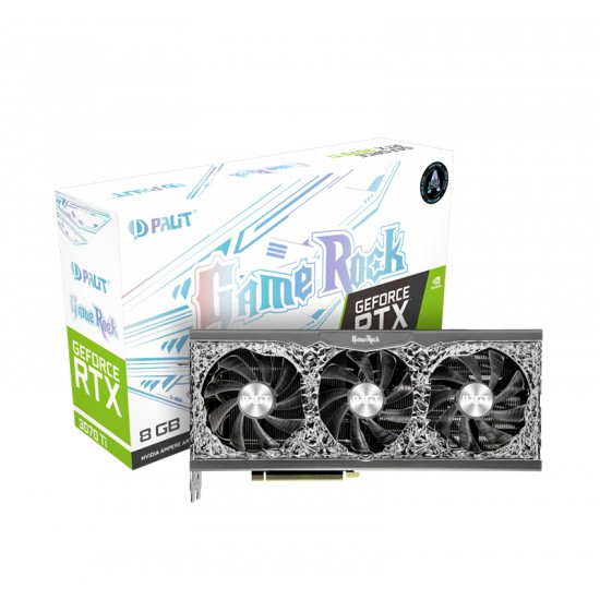 PALIT GEFORCE RTX 3070 TI GAMEROCK - 8GB GDDR6X, 256-BIT, PCI-E 4.0, 3X DISPLAYPORT 1.4A, 1X HDMI 2.1, RESOLUTION 7680X4320, GAMING GRAPHICS CARD - NED307T019P2-1047G