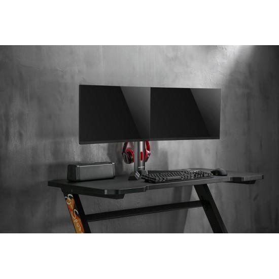RANSOR Gaming Hecaton Dual Monitor Arm - RNSR-ARM-2S0R1