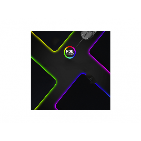 RGB Gaming XL Mouse Pad Wireless Charging , Fast Charging,10 Modes Cool Light, Extended Mouse Mat, Anti-Fray Stitching & Non-Slip Grip - Wireless Charger - 31.9
