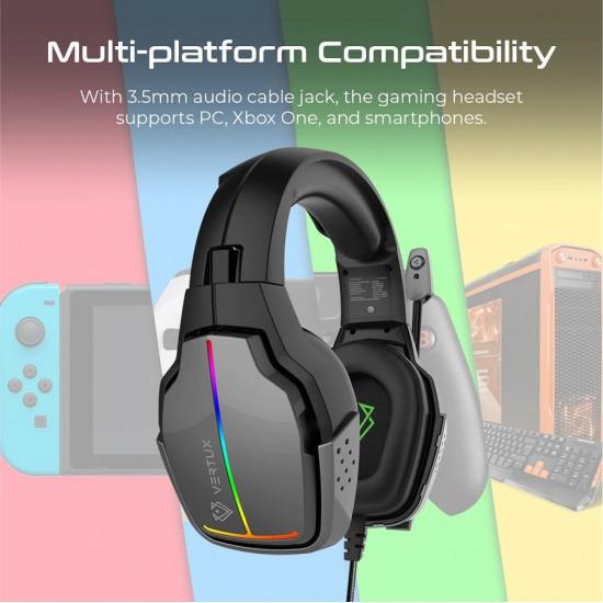 Vertux Havana Gaming Headset 7RGB Rotate Mic Bk