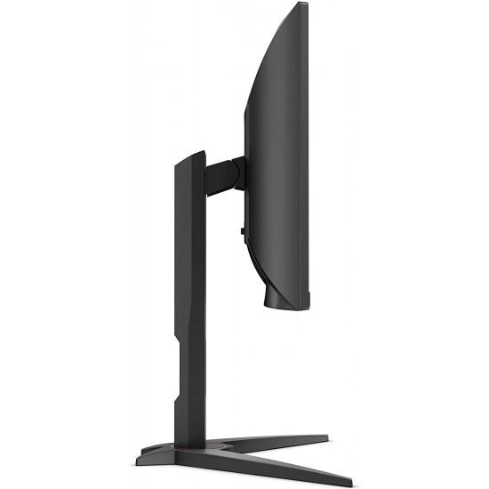 AOC C24G1 24? Curved Frameless Gaming Monitor, FHD 1080p, 1500R VA panel, 1ms 144Hz, FreeSync, Height adjustable