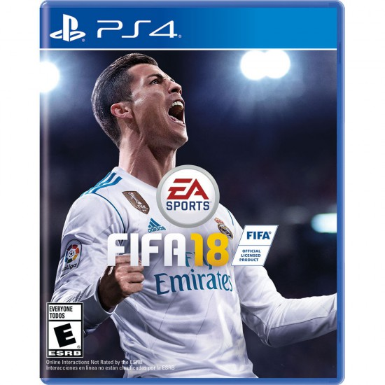 (USED) FIFA 18 PS4 REGION 2 Arabic version - playstation 4 (USED)