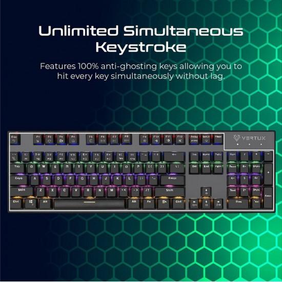 Vertux Gaming Tactical Advance Performance Mechanical Keyboard(Arabic)
