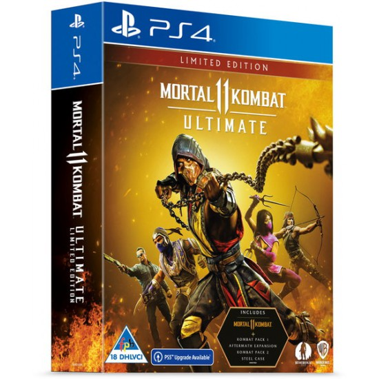 Mortal Kombat 11 - Ultimate Edition - Limited Steelbook (PS4/PS5 Upgrade Available)