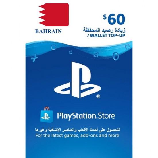 Bahrain PSN Wallet Top-up 60 USD