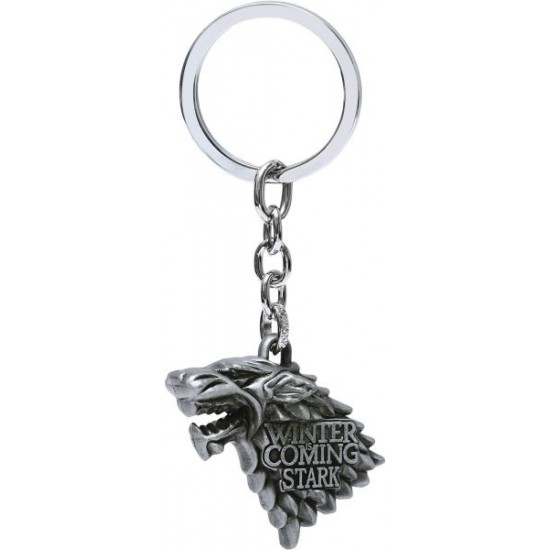 Classic Pride Winter is Coming from Game of Thrones Metal Keychain - Silver