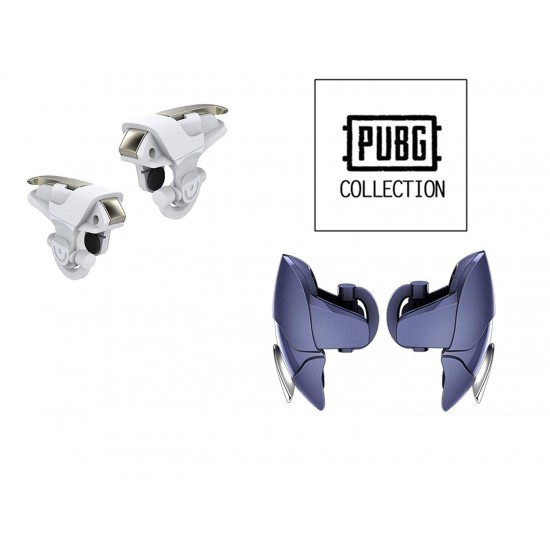Pubg Gaming Pad Mobile Trigger of Angel Wings, Blue Shark Trigger for Aim and Shoot-Blue