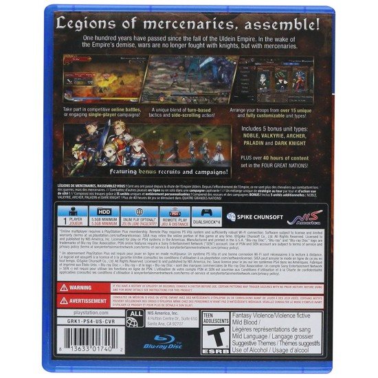 Grand Kingdom (Region1) - PlayStation 4