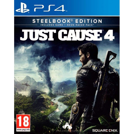 Just Cause 4 (PS4) Steelbook Edition with Neon Racer Pack