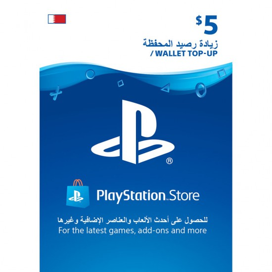 Bahrain PSN Wallet Top-up 5$ USD