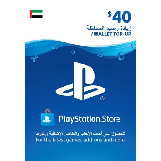 UAE PSN Wallet top up - 40 USD