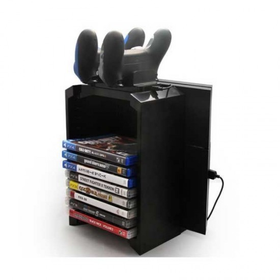 PS4 Multifunctional Storage Stand Kit (BLACK)