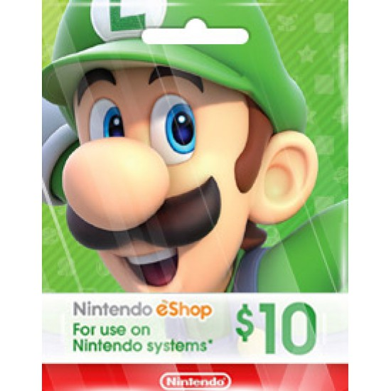 NINTENDO USD10 ESHOP CARD (US)