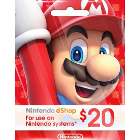 NINTENDO USD20 ESHOP CARD (US)