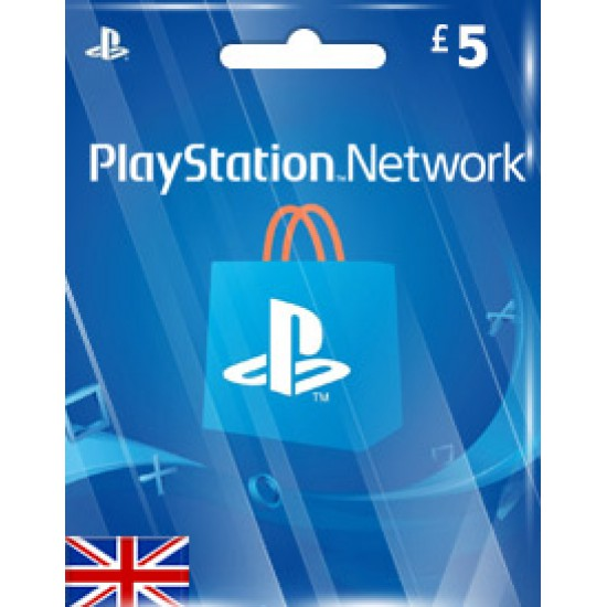 5$ PlayStation Store Gift Card UK